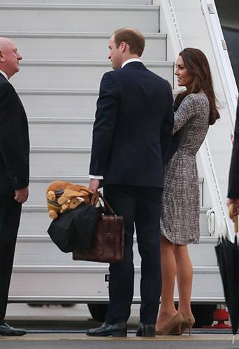 Kate Middleton, Prince William et Prince George à Wellington le 7 avril 2014