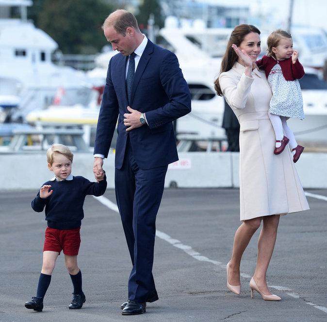 Le duc et la duchesse de Cambridge : William et Kate avec leurs enfants George et Charlotte à Victoria (Canada), le 1er octobre 2016
