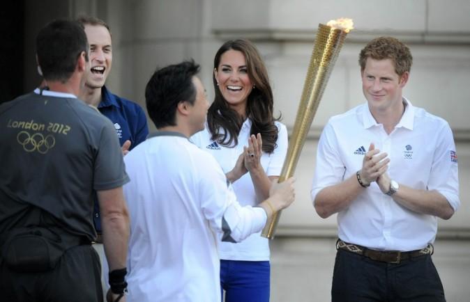 Kate Middleton et le prince Harry le 26 juillet 2012 à Londres