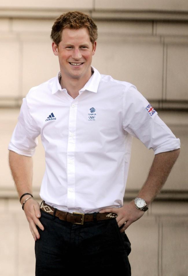Le prince Harry le 26 juillet 2012 à Londres