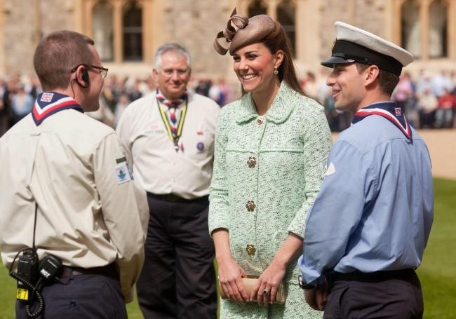 Kate Middleton lors d'un événement au château de Windsor, le 21 zvril 2013.