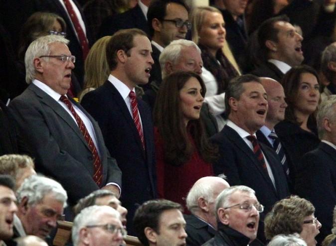 Kate Middleton et le Prince William à Cardiff, au Pays de Galles, le 24 novembre 2012