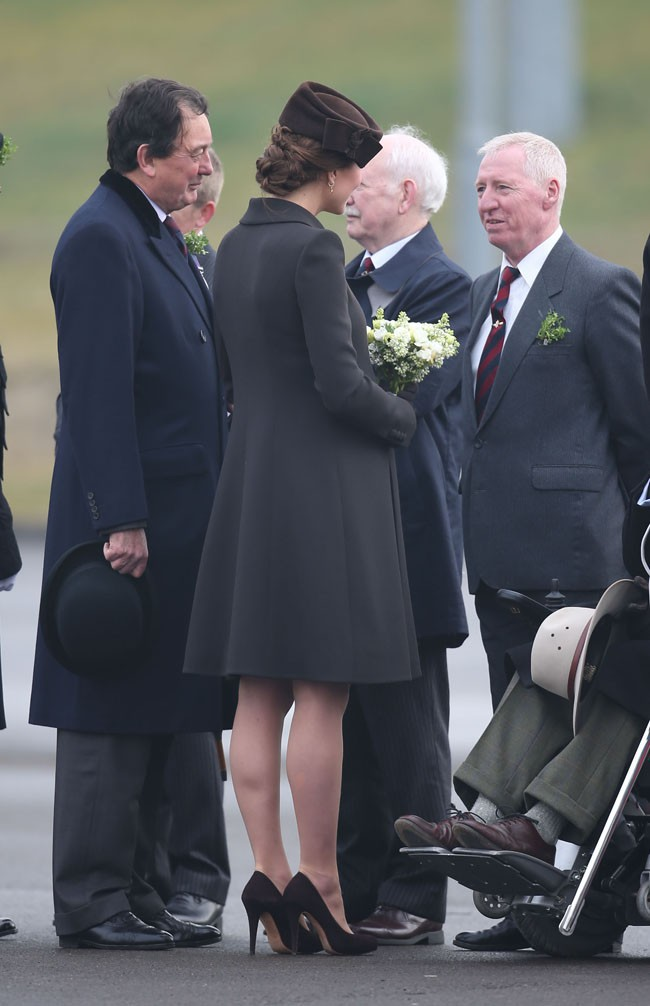 Kate Middleton et le Prince William à Aldershot le 17 mars 2015