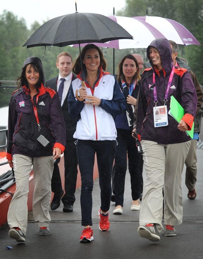 Kate Middleton le 2 septembre 2012 à Eton Dorney, au Royaume-Uni