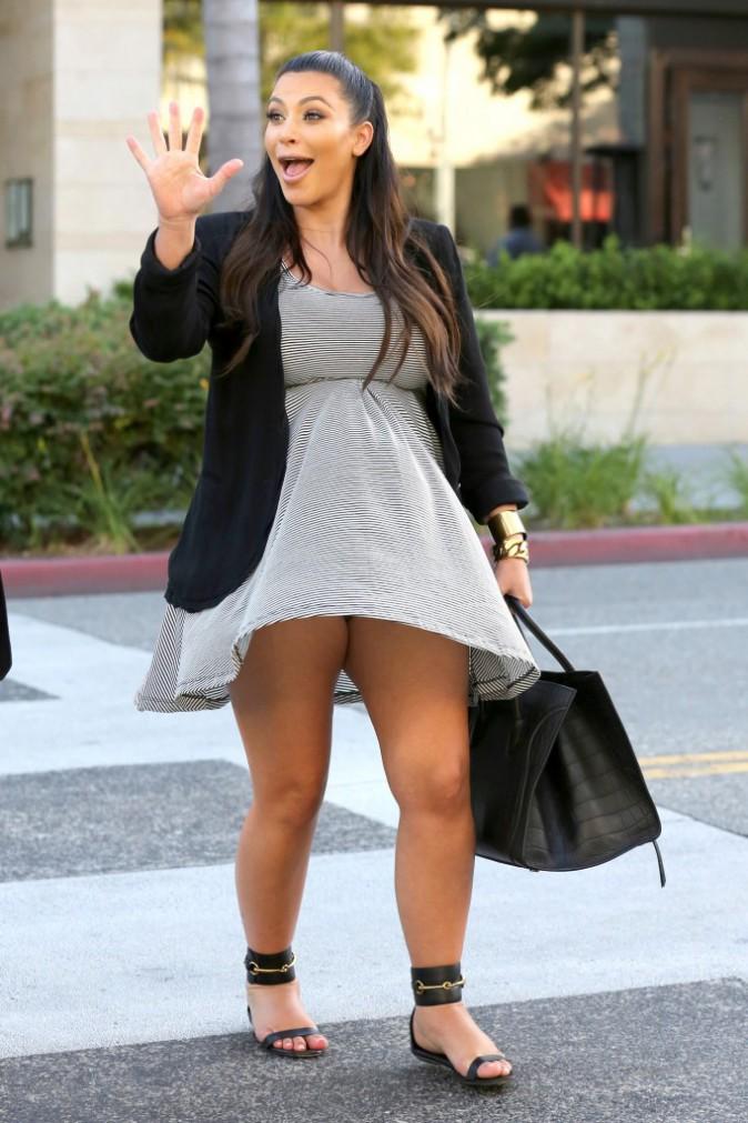 Kim Kardashian : la future maman semble prête à s'envoler !