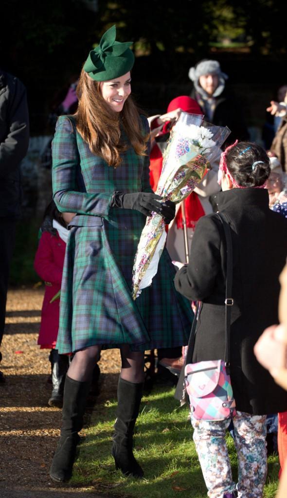 Kate Middleton à la messe de Noël célébrée en l'église St Mary Magdalene le 25 décembre 2013
