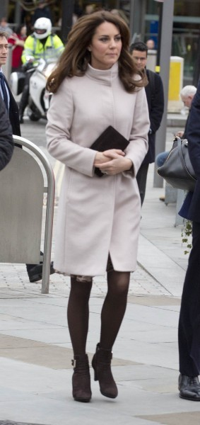 Kate Middleton arrivant à la gare de King's Cross à Londres, le 28 novembre 2012.