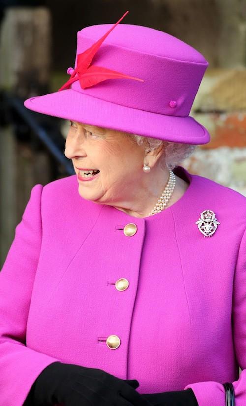 La reine Elizabeth II à Sandringham, le 25 décembre 2014