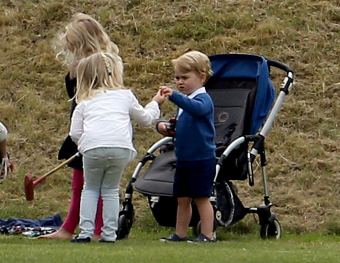 Photos : Kate Middleton : souriante et complice avec George pour encourage le prince William !
