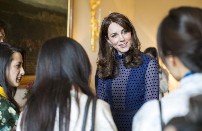 La Duchesse de Cambridge reçois des étudiants d'Inde et du Bhoutan