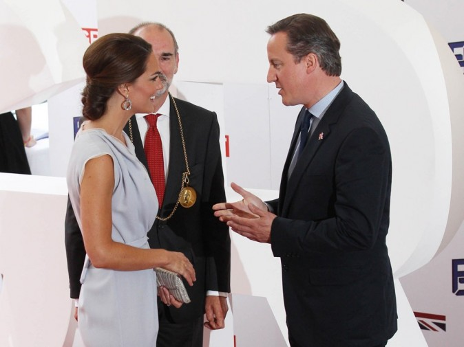 Kate Middleton et David Cameron le 30 juillet 2012 à Londres