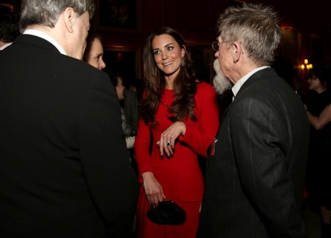 """Kate Middleton lors de la soirée """"Dramatic Arts reception"""" à Londres, le 17 février 2014."""