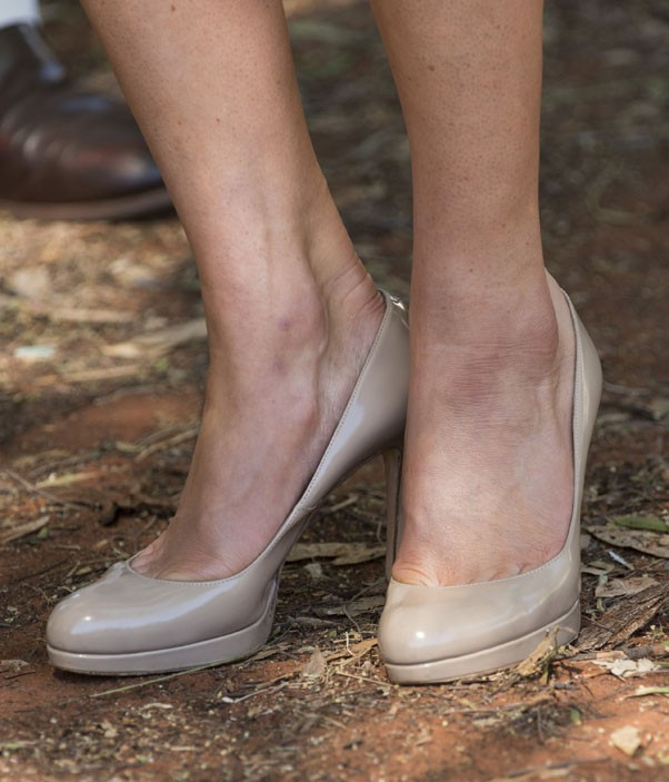 Kate Middleton et le Prince William en visite à Uluru, en Australie, le 22 avril 2014