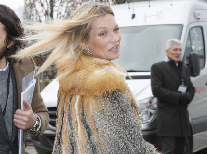 Kate Moss : au poil pour la Fashion Week de Paris et le défilé Louis Vuitton !