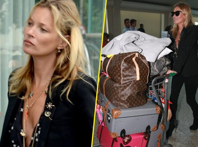 Kate Moss : de Rio à Sao Paulo, elle voyage chargée et très décolletée !