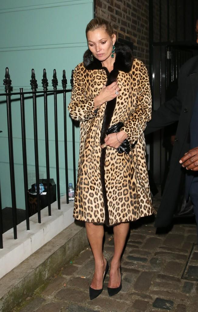 Kate Moss à Londres le 8 août 2015