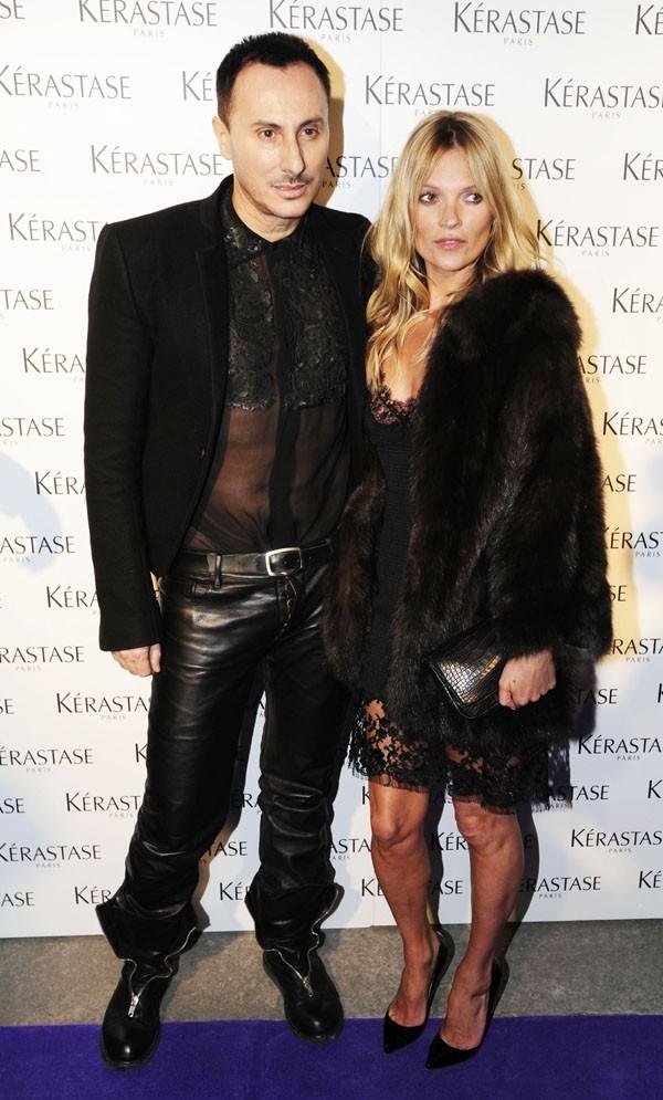 Kate Moss à la soirée Kérastase à Londres le 11 mars 2013