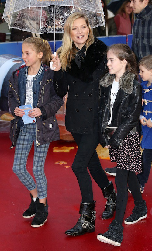 Kate Moss et sa fille, Lila Grace, à Londres le 23 novembre 2014