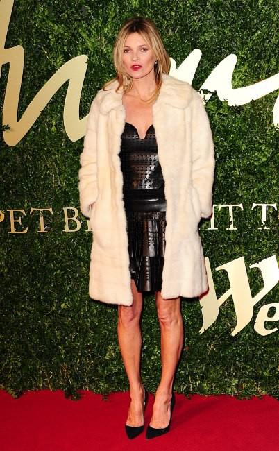Kate Moss lors de la soirée The British Fashion Awards à Londres, le 2 décembre 2013.