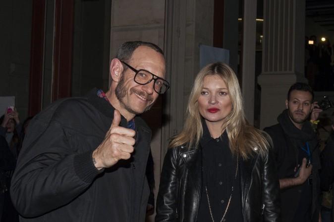 Kate Moss à la soirée Eleven Paris organisée à Paris le 4 mars 2014