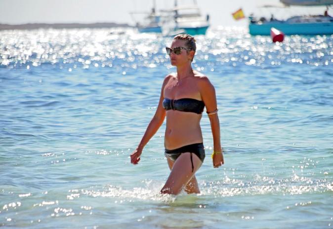 Kate Moss en vacances à Formentera le 8 août 2013