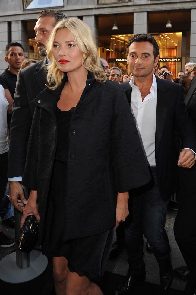 Kate Moss le 19 septembre 2012 à Milan