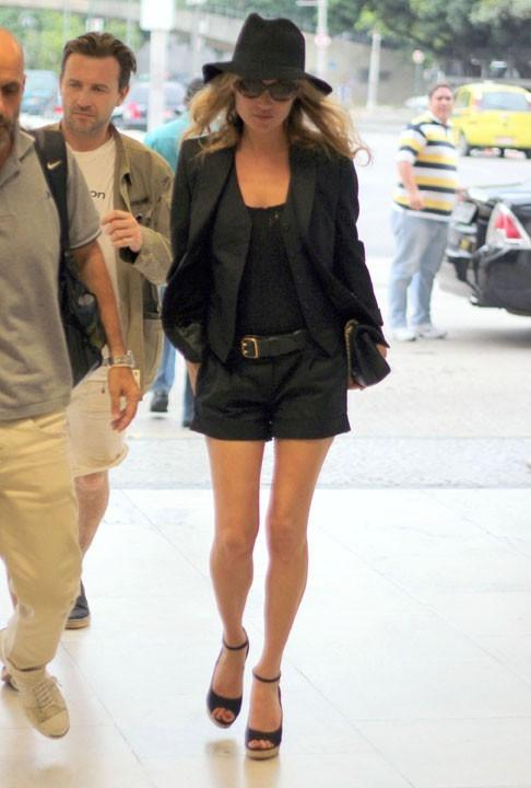 Kate Moss à l'aéroport de Sao Paulo, le 16 février 2011.