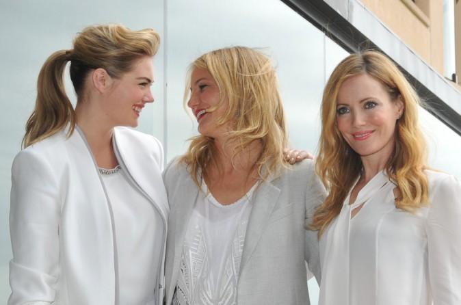Kate Upton, Cameron Diaz et Leslie Mann en promo à Sydney, le 15 avril 2014.