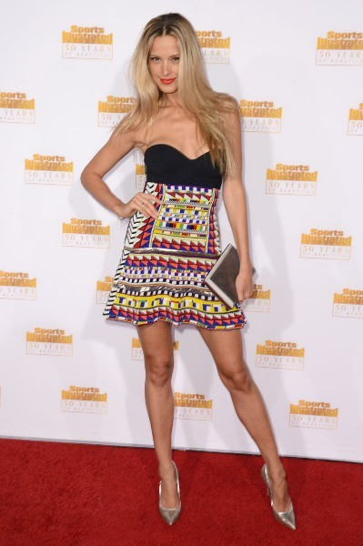 Petra Nemcova lors des 50 ans du magazine Sports Illustrated Swimsuit à Los Angeles, le 14 janvier 2014.