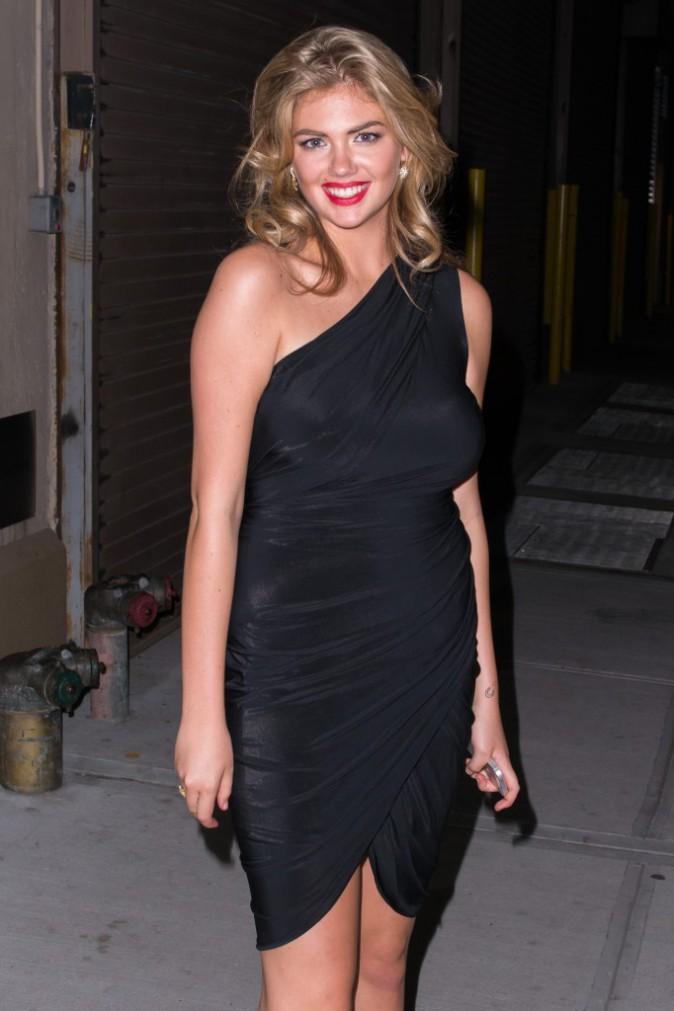 Kate Upton en route pour la soirée David Yurman à New York, le 30 juillet 2013.
