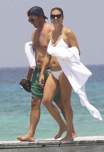 Kate Walsh et Chris Case à Mexico, le 19 juillet 2012.
