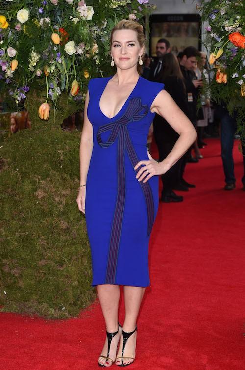 Photos : Kate Winslet, discrète mais toujours aussi moulée et décolletée !