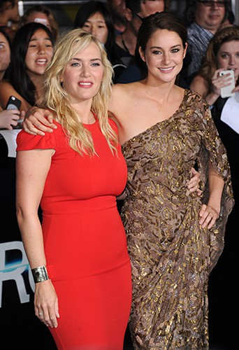 Kate Winslet et Shailene Woodley à Los Angeles le 18 mars 2014