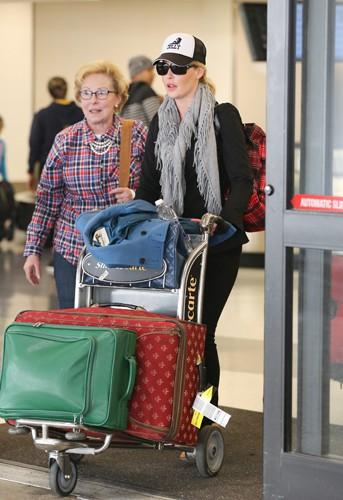 Katherine Heigl et sa mère Nancy à Los Angeles le 20 février 2014