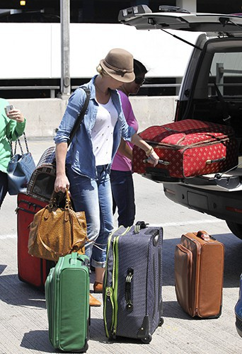 Katherine Heigl à l'aéroport de Los Angeles le 7 août 2013