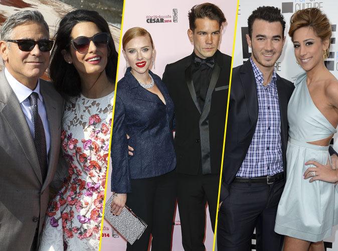 Photos : George Clooney, Scarlett Johansson, Kevin Jonas : ces stars qui se sont unies à des inconnus