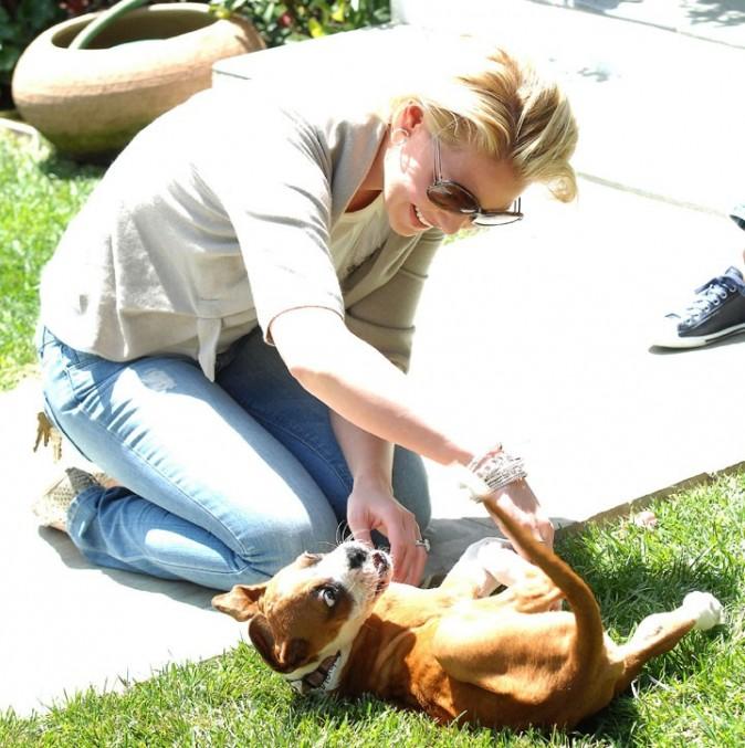 Katherine Heigl à Los Angeles, le 14 avril 2011.