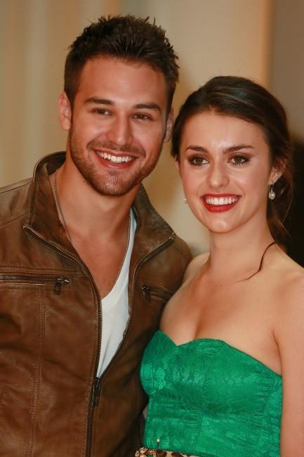 Kathryn McCormick et Ryan Guzman, Rome, 28 septembre 2012.