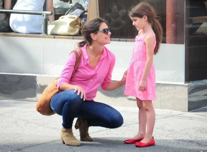 Katie Holmes et Suri Cruise le 15 juillet 2012 à New York