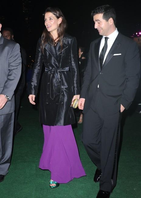 Katie Holmes et mystérieux inconnu le 10 décembre 2012 à New York