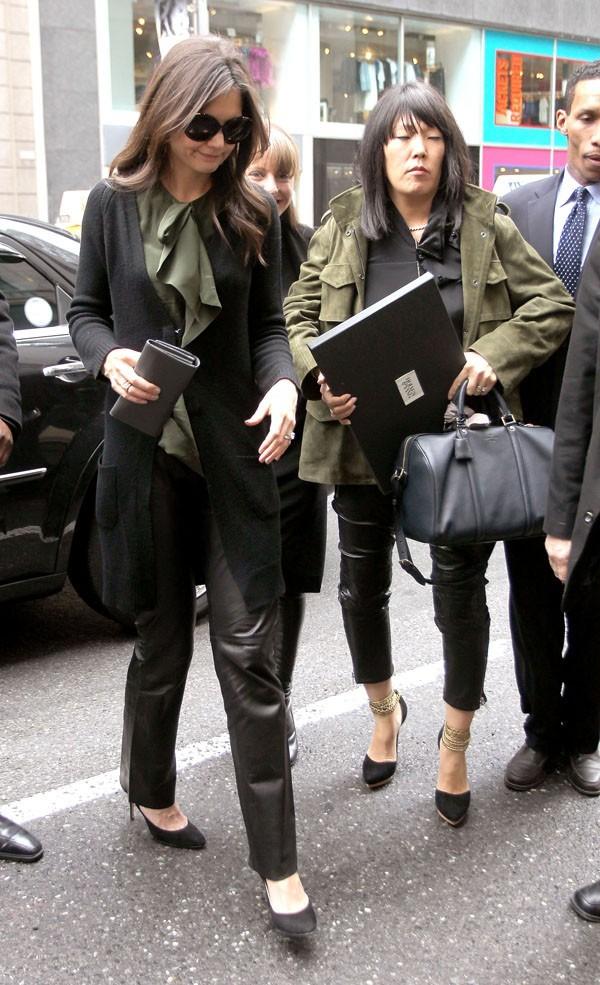 Trop classe, le pantalon de cuir...