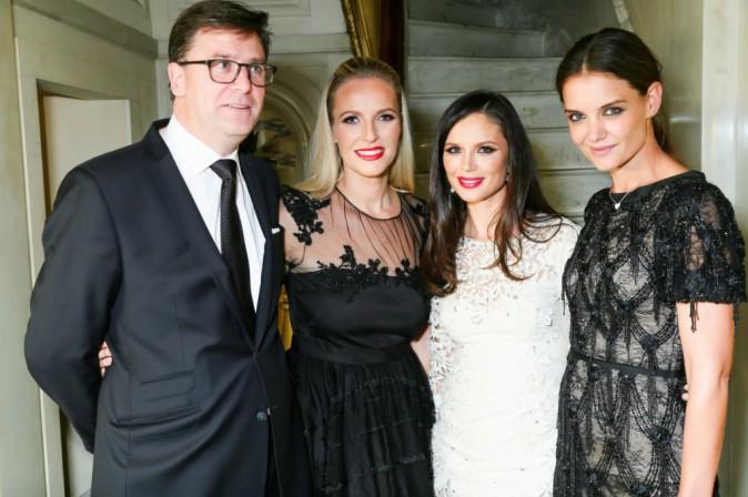 Katie Holmes, Georgina Chapman, Paul James et Keren Craig le 11 novembre 2014