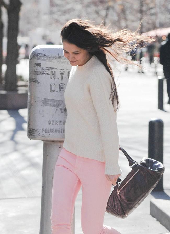 Katie Holmes à New-York le 31 janvier 2013
