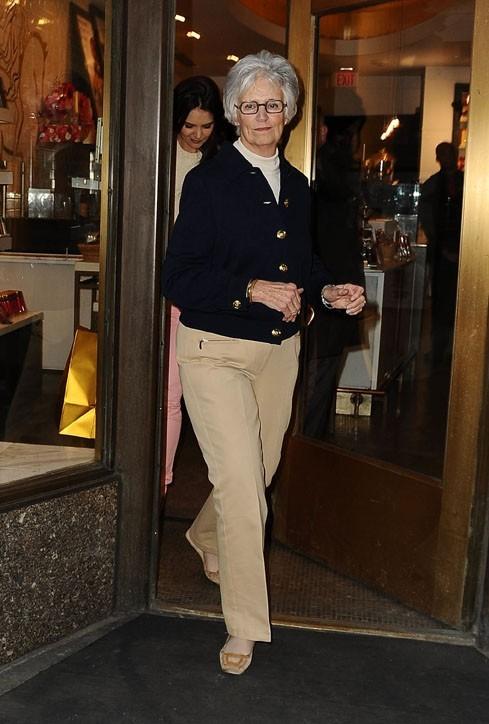 Katie Holmes avec sa maman à New-York le 31 janvier 2013