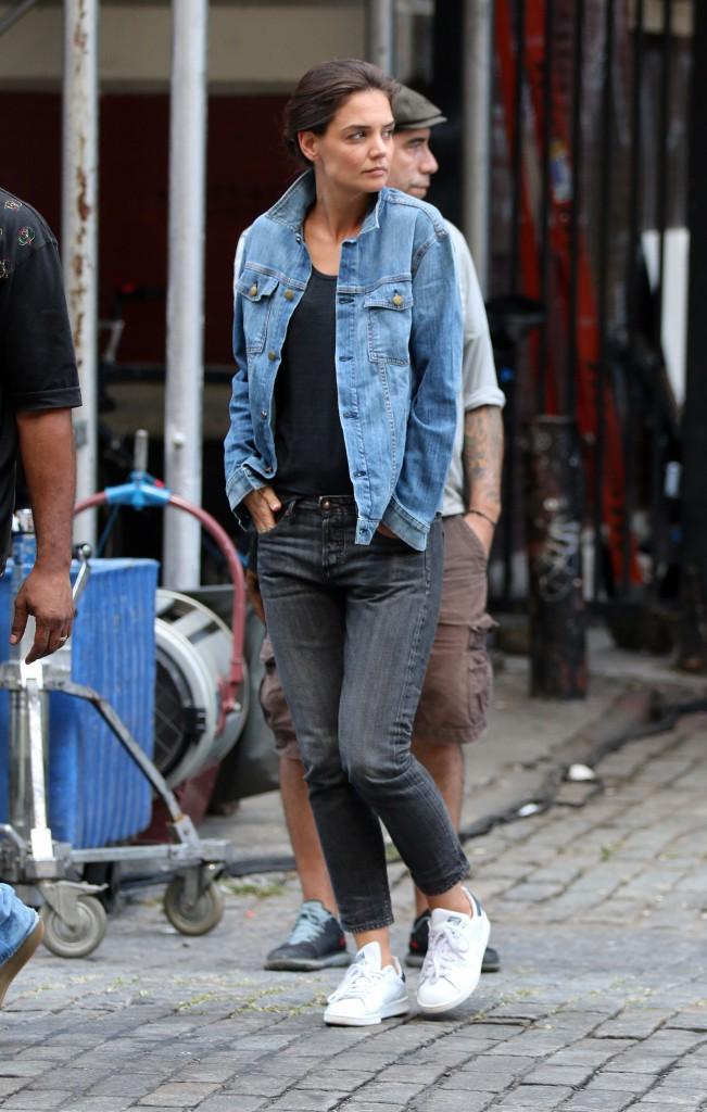 Katie Holmes à New York le 18 septembre 2014