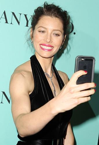 Jessica Biel à New York le 10 avril 2014