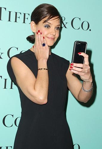 Katie Holmes à New York le 10 avril 2014