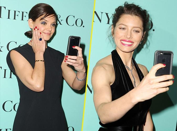 Katie Holmes et Jessica Biel : reines du selfie pour Tiffany & Co !