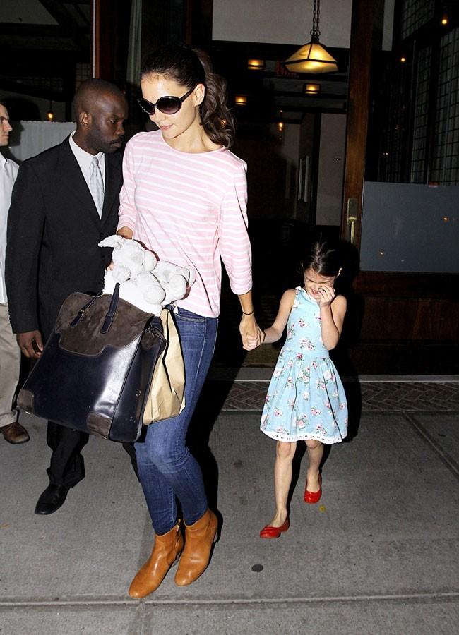 Katie Holmes et Suri Cruise le 17 septembre 2012 à New York