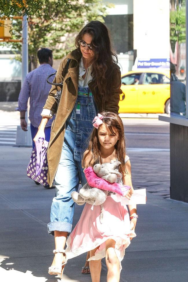 Katie Holmes et Suri Cruise à New-York le 22 septembre 2013